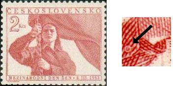 'Tajné' rytecké značky a nápisy v obrazech známek poválečného Československa