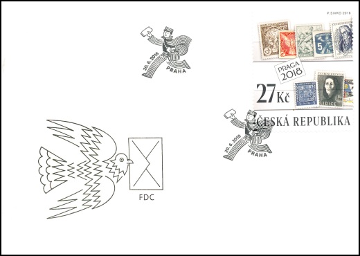 100 let československé poštovní známky - aršík