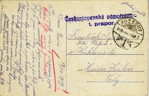 100 let od zřízení polní pošty československé armády
