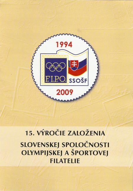 15 rokov Slovenskej spoločnosti olympijskej a športovej filatelie