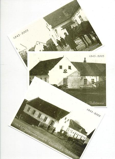 160 let pošty v Křelovicích u Pelhřimova – Nabídka publikace a otisku příležitostného razítka