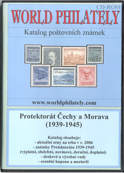 Obal CD World Philately 2006 - Protektorát Čechy a Morava (1939-1945)