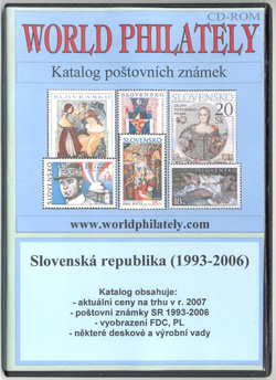 Obal CD World Philately 2007 - Slovenská republika (1993-2005)