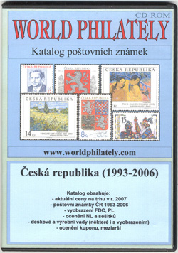 Obal CD World Philately 2007 - Česká republika (1993-2006)