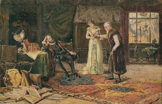 Rudolf II. u svého archiváře Strady