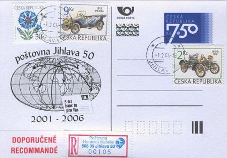 5. výročí poštovny Jihlava 50