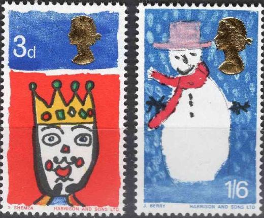 50 let britských vánočních známek