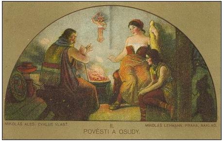 Alšovy pohlednice - VII. Lunety