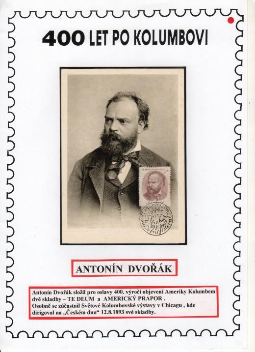 Antonín Dvořák, Kryštof Kolumbus a Nový svět (část 1).