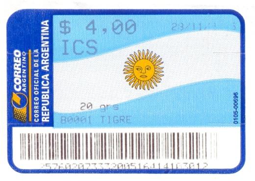 Argentinská cenná nálepka