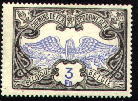 Belgické železniční balíkové známky