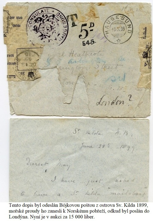 Bójková pošta na ostrově Sv. Kilda - Skotsko