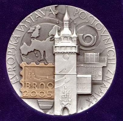 Brno 2005 - ocenění Mladého sběratele a katalogu World Philately