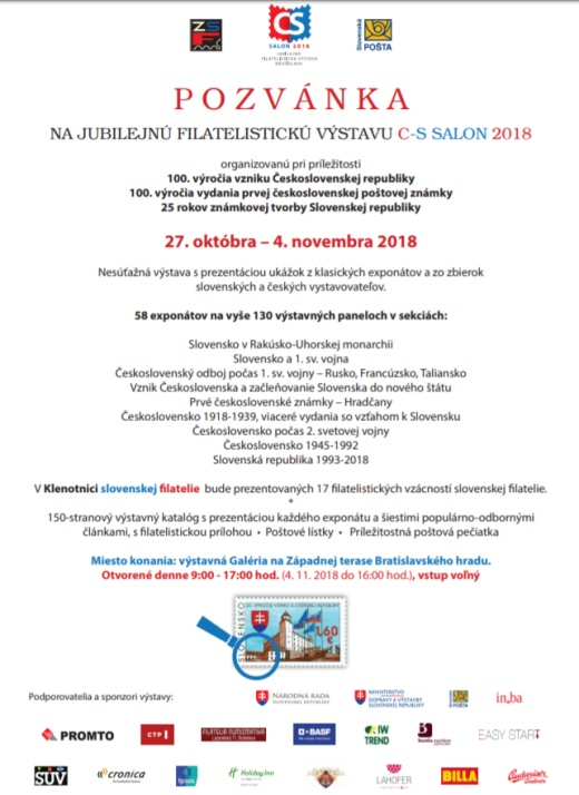 C-S salón 2018 - pozvánka