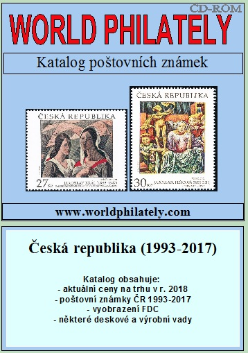 Ceník - katalog poštovních známek - Česká republika (1993-2017) - World Philately 2018 - NOVINKA!
