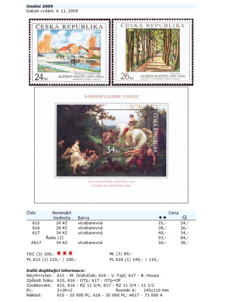 Ceník poštovních známek - Česká republika (1993-2009) - World Philately 2010 - NOVINKA!