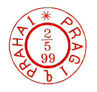 Červená razítka Pražských poštovních úřadů 1 a 18