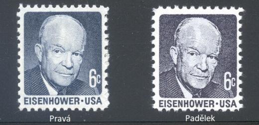 Další padělky amerických známek