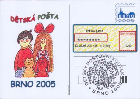 Dětská pošta na výstavě Brno 2005