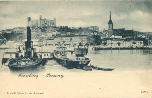 Dobové pohlednice Bratislavy