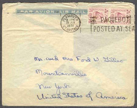 Dopisy odeslané z parníků