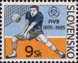 Dušan NÁGEL:  Športové premiéry - volejbal na známke