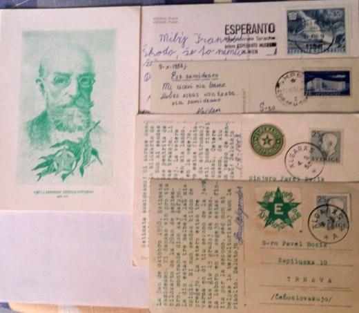 Esperanto na známkach apohľadniciach