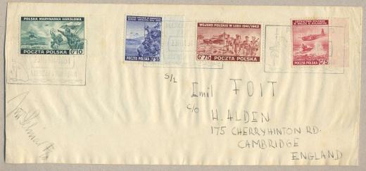 Exilová vydání polských poštovních známek 1941 - 1945