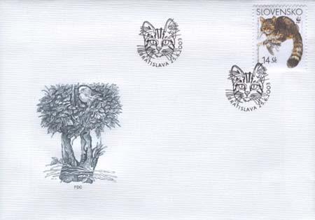 FDC Európska mačka divá - 14 Sk