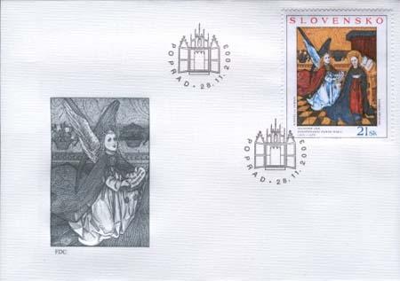 FDC Majster Ján: Zvestovanie panne Márii