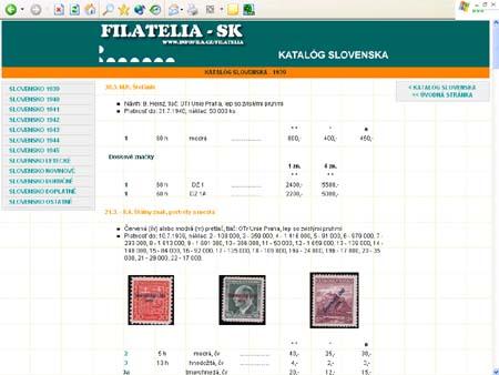 Filatelia - Sk