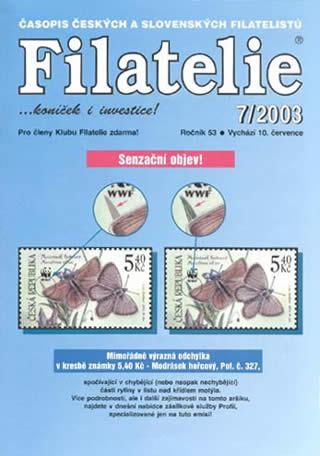 Filatelie číslo 7/2003