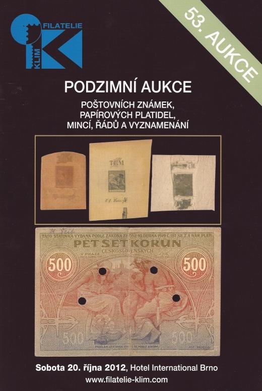 Filatelie Klim - 53. aukce