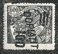 Filatelistická Revue 2/1929: 600 haléřová známka hospodářství a věda se svislým přetiskem