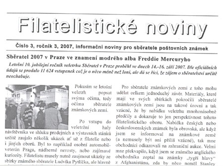 Filatelistické noviny 3/2007
