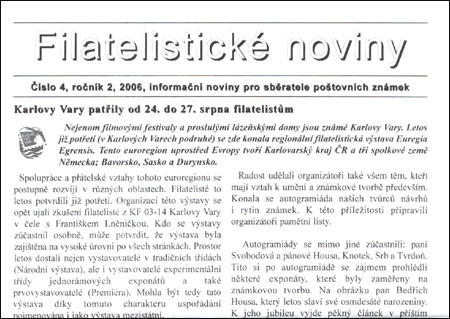 Filatelistické noviny 4/2006