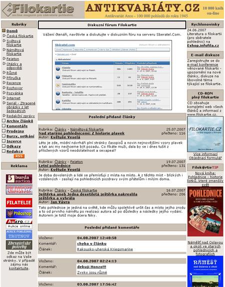 Filokartie.cz - internetový webmagazín pro sběratele pohlednic