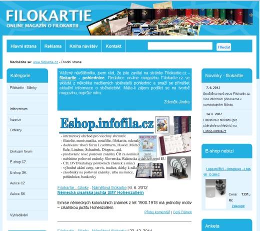 Filokartie.cz - on-line magazín o filokartii