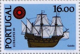 Galionové figury na poštovních známkách