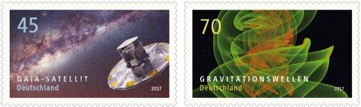 Gravitační vlny na německé známce