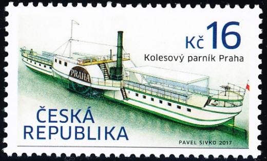 Historické dopravní prostředky - kolesový parník Praha