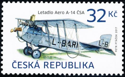 Historické dopravní prostředky - letadlo AERO A-14 ČSA