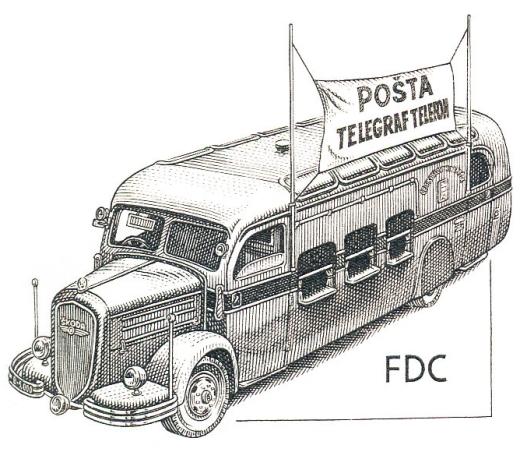 Historické dopravní prostředky - poštovní autobus