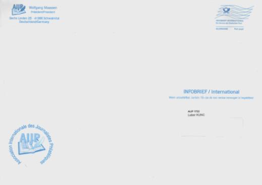 INFOBRIEF – nový produkt Německé pošty