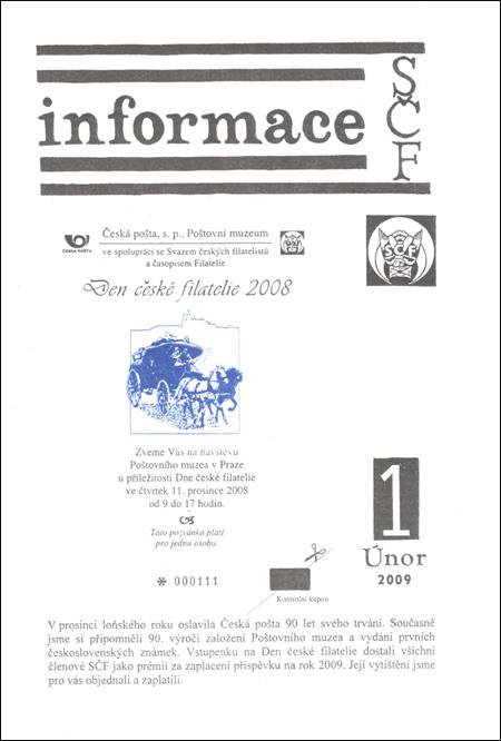 Informace SČF 1/2009