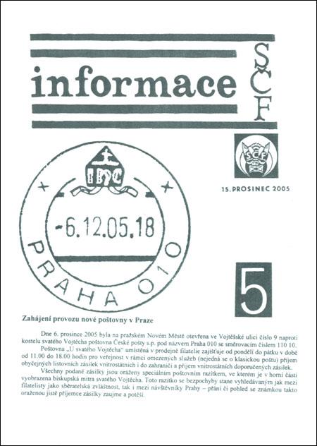 Informace SČF 5/2005