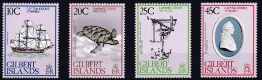 James Cook na známkách britského Commonwealthu