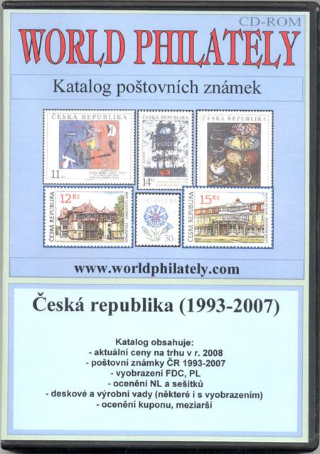Katalog poštovních známek - Česká republika (1993-2007) - World Philately 2008 - NOVINKA!