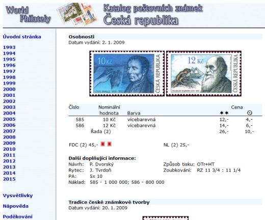 Katalog poštovních známek - Česká republika (1993-2015) - World Philately 2016 - NOVINKA!