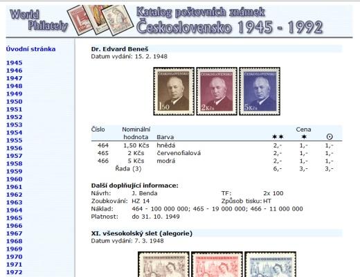 Letní novinka! Katalog poštovních známek - Československo (1945-1992) - World Philately 2016